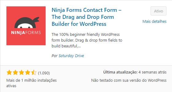 plugin para formulário Ninja Forms